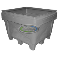 34cu ft - 48x44x39 Fixed Wall Bulk Container - 4-way Entry