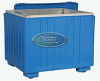 30cu ft - 49x43x43 Insulated Container w/Stainless Steel Insert & Lid