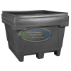34cu ft - 48x44x39 Fixed Wall Bulk Container - 2-way Entry