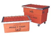 Reusable Shipping Storage Container Numbering